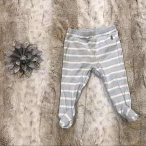 The Children's Place Striped Footsie Pants 0-3M